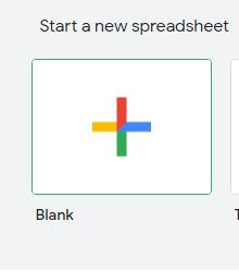 How to Create blank new GoogleSheet