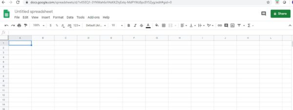 New Google Spreadsheet